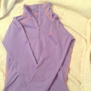Nike long sleeve running top with thumb holes